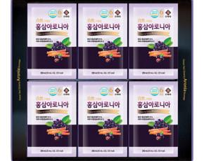 [풍기특산물영농조합법인] 천제명홍삼 홍삼아로니아 50ml*30포