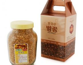 [소백산벌꿀] [유리병] 국내산100%  - 건조 화분(꽃가루) 1.2kg
