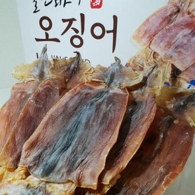 (울진오징어)  황토숙성 배오징어 10마리 (100% 국산) 마른오징어