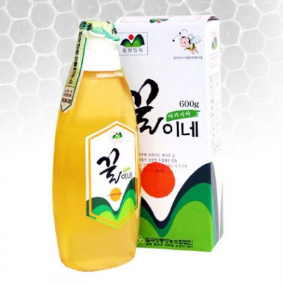 [칠곡양봉영농조합] 아카시아 벌꿀 600g(식탁용 튜브형 꿀병)(1+등급검사꿀)