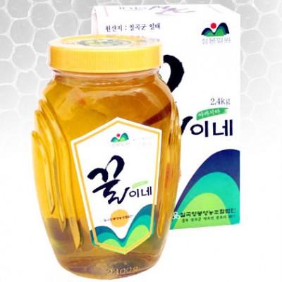 [칠곡양봉영농조합법인] 아카시아 벌꿀 2.4kg(1+등급검사꿀)