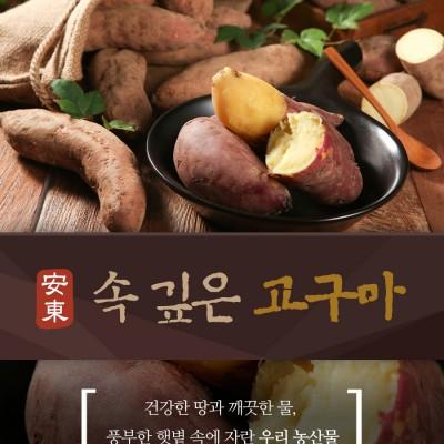 [안동와룡농협](흙)속깊은 꿀고구마 3kg