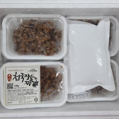 [회룡포 장수진품] 전통방식 국산콩100% 무염청국장 100g 10개