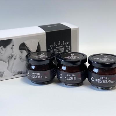 [한터식품]무설탕 수제잼 선물세트 1호(110g×3ea)(무방부제/돌잔치/답례품 추천)