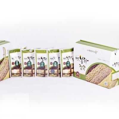 [봉화잡곡(봉양작목반)] [건강밥상] 국내산/혼합잡곡 1kg (찹쌀/수수/기장/차조/검은콩 200g*5)