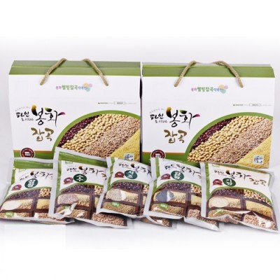 [봉화잡곡(봉양작목반)] [건강밥상] 국내산/혼합잡곡 2.5kg (찹쌀/수수/기장/차조/검은콩 500g*5)