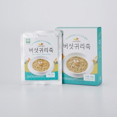 유기농 버섯귀리죽/ 버섯 귀리죽 30g*3팩