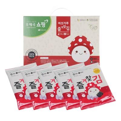 *무료배송* 국내산 버섯가루 즐겨찾김 선물세트 (전장김 7봉)