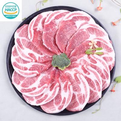 국내산 돼지고기 목살 600g (급속냉동)