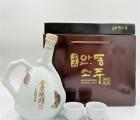 명품안동소주 청와대 납품주 선물세트 600ml 45도+잔2개