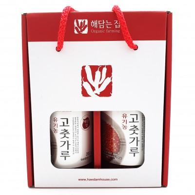 경북 영양 해담는집 유기농고춧가루 선물세트(200g*2)