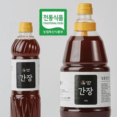 [일품청]남다른 숙성으로 더욱 담백하고 맑은 일품청 한식간장 1.8L