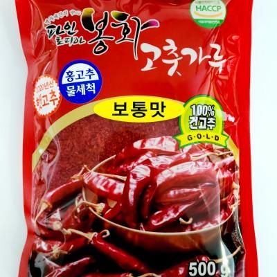 [봉화군조합공동사업] 파인토피아봉화고춧가루 골드 500g(보통맛)