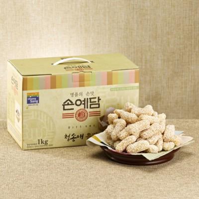 [청송사과한과] 청송애유과 1kg (동글이1봉지,병과1봉지)