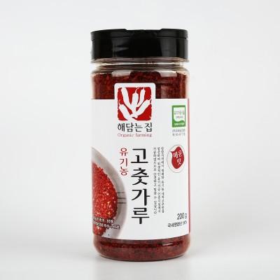 [해담는집] 영양 유기농고춧가루 200g/청양고추 보다 매운맛/고운양념용