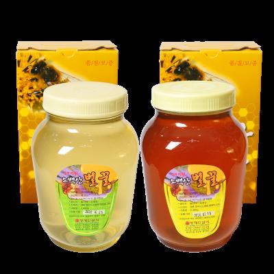 [황명지삼] 소백산벌꿀 영주에서 직접 채밀한 아카시아꿀, 잡화꿀 2.4kg 순수 꽃꿀 천연 벌꿀 100%