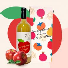 [생생초] 사과초모식초 생초 사과 대용량 1,000mL 선물세트(푸어러+선물박스포함)