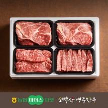 [냉장][영주한우]실속 가족 로스구이세트7호 등심/채끝/특수부위x2