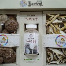 [이상구표고농장]표고버섯 흑화고분말슬라이스선물세트2-1번