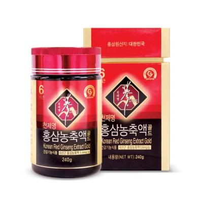 [풍기특산물영농조합법인] 천제명홍삼 홍삼농축액골드 240 g×1병