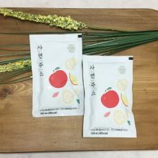 [사연주스] 물없는NFC 착즙 사과와 연근 과채주스, 연근주스 30개