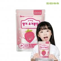 파파아이 유아과자 아기간식 요거트칩 딸기요거트 6봉