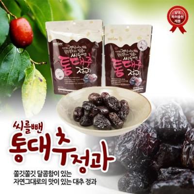 [이엘생활건강] 씨를 뺀 통대추 정과 70g/110g/150g (최고급 경산대추 100%로 만든 쫄깃쫄깃 달콤한 정과)