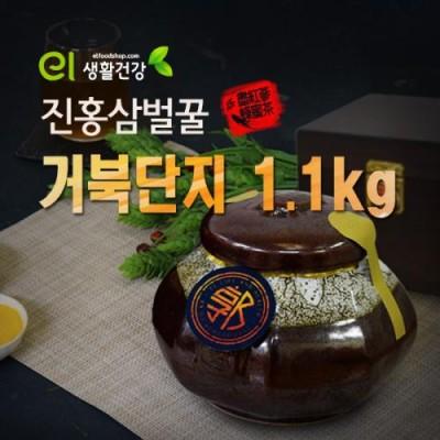 진홍삼벌꿀 고가구 거북도자기 1.1kg 명절 선물세트