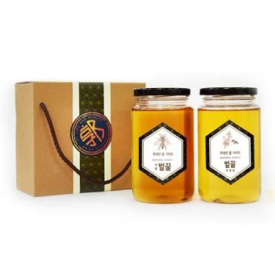 [이엘생활건강] 국내산 사양 야생 아카시아 꿀 600g 2병 세트