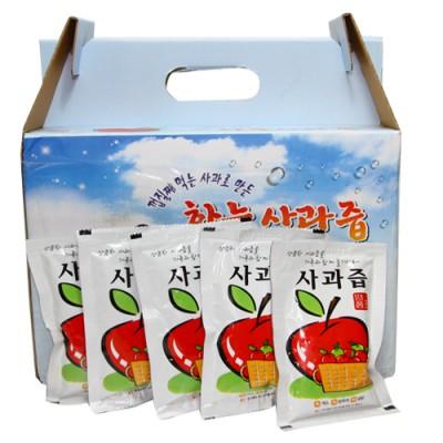 [하늘사과농원] 친환경사과100% 사과쥬스(알미늄팩)100팩