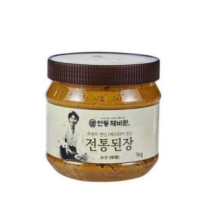 [농업회사법인 안동제비원전통식품(주)] 안동제비원 전통된장1kg 2개