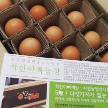 [착한아빠농장] 자연농방사유정란 40구 (무항생제 / 친환경)