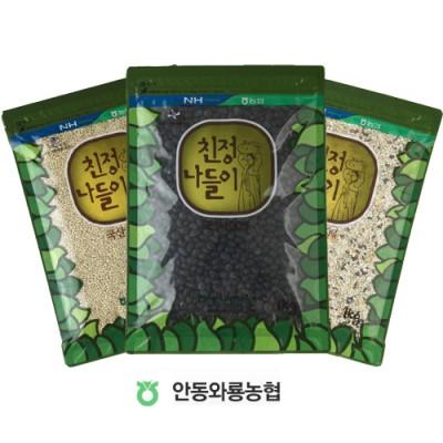 [안동와룡농협] [할인]혼합잡곡 3종 7호 (찰보리쌀+혼합15곡+서리태)