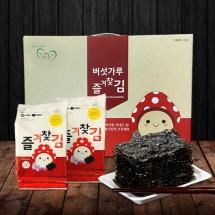 [그린벨트의친구들] 국내산 버섯가루 즐겨찾김 선물세트(도시락김 14봉+전장김 6봉)