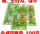 [왕산농원] [유기농인증] 왕산 수세미배즙 100포 (배, 도라지, 대추)