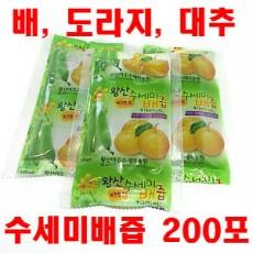 [왕산농원] [유기농인증] 왕산 수세미배즙 200포 (배, 도라지, 대추)