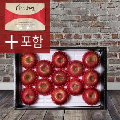 봉화미담 사과선물세트 4kg 11~13과 부직포가방 포함 추석선물