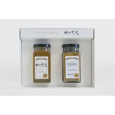 [선비벌꿀 영농조합] 이리오너라 2호 선물세트 (아카시아꿀 400그램 + 화분 170그램) 선비벌꿀