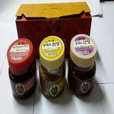 ★ 장일품 장류선물세트(된장 350g+고추장 350g+간장350g)