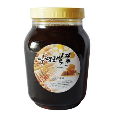 [박영근벌꿀] 밤꿀 2.4kg (수분홤량 17%내외 고농축 천연완숙벌꿀)