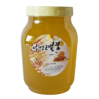 [박영근벌꿀] 아카시아꿀 2.4kg (수분홤량 17%내외 고농축 천연완숙벌꿀)