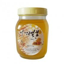 [박영근벌꿀] 아카시아꿀 1.2kg (수분홤량 17%내외 고농축 천연완숙벌꿀)