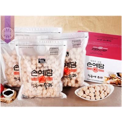 [청송사과한과]청송애유과 동글이 2kg (동글이 4봉지)