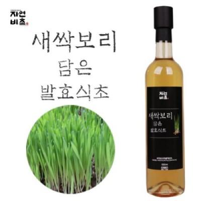 [농업회사법인(주)들산초] 새싹보리 담은 발효식초 500ml 무설탕 전통발효