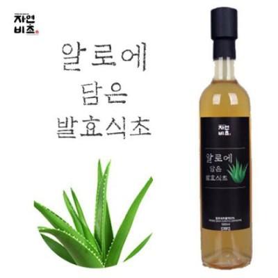 [농업회사법인(주)들산초] 알로에 담은 발효식초 500ml 무설탕 전통발효
