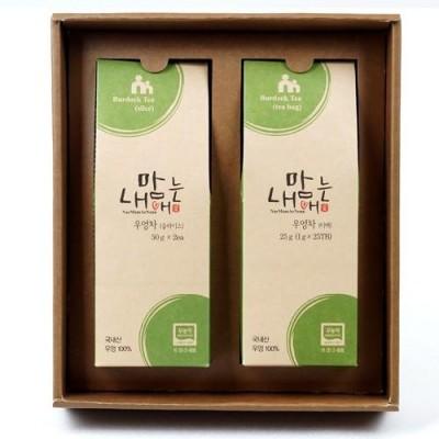 [현이네농산] [선물세트] 우엉차 슬라이스 100g (50gX2ea), 우엉차 티백 26g/TB (13gX2ea)