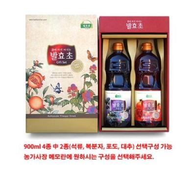[발효촌] 발효초 선물세트(석류,복분자) 900ml 2ea