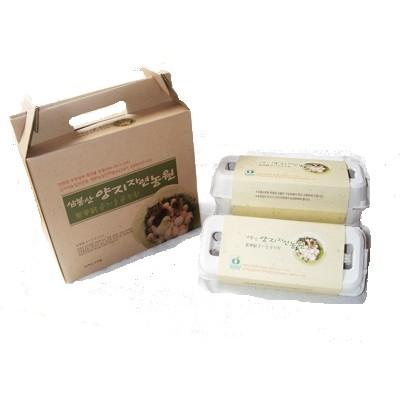 [삼봉산 양지 자연농원] [유기농 자연 방사] 토종닭 유정란 (30알 )선물셋트