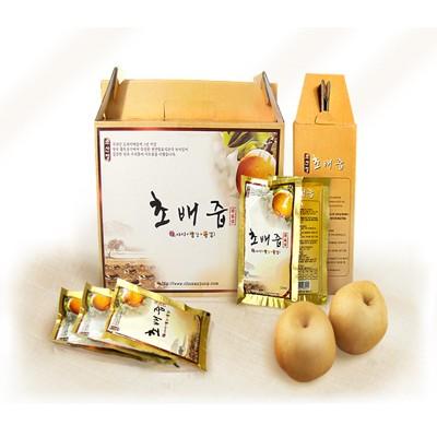초산정 초배즙(120ml*30) 4박스(총120팩) / 도라지배즙(도라지+생강+은행)과 자연발효식초의 환상적인 궁합